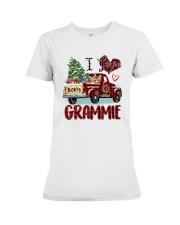 I love being a Grammie truck red xmas Premium Fit Ladies Tee tile