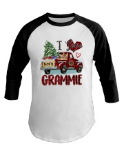 I love being a Grammie truck red xmas Baseball Tee tile