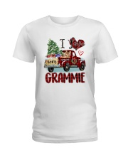 I love being a Grammie truck red xmas Ladies T-Shirt tile