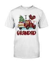 I love being a grandad truck red xmas Classic T-Shirt front