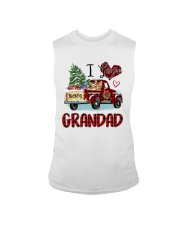 I love being a grandad truck red xmas Sleeveless Tee tile