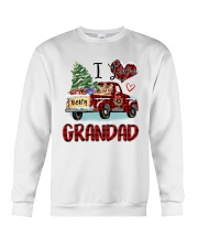 I love being a grandad truck red xmas Crewneck Sweatshirt tile