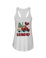 I love being a grandad truck red xmas Ladies Flowy Tank tile