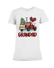 I love being a grandad truck red xmas Premium Fit Ladies Tee tile