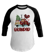 I love being a grandad truck red xmas Baseball Tee tile