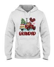 I love being a grandad truck red xmas Hooded Sweatshirt tile