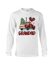 I love being a grandad truck red xmas Long Sleeve Tee tile