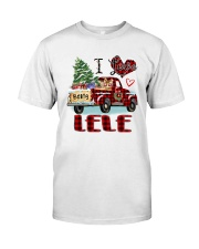 I love being a Lele truck red xmas Classic T-Shirt front