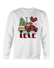 I love being a Lele truck red xmas Crewneck Sweatshirt tile