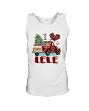 I love being a Lele truck red xmas Unisex Tank tile