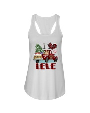 I love being a Lele truck red xmas Ladies Flowy Tank tile