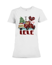 I love being a Lele truck red xmas Premium Fit Ladies Tee tile