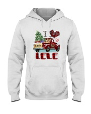 I love being a Lele truck red xmas Hooded Sweatshirt tile