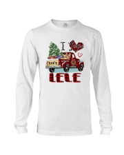 I love being a Lele truck red xmas Long Sleeve Tee tile