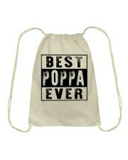 Best poppa ever new Drawstring Bag tile