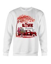 Love honey life truck red Crewneck Sweatshirt tile