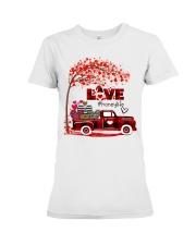 Love honey life truck red Premium Fit Ladies Tee tile