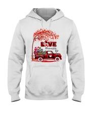 Love honey life truck red Hooded Sweatshirt tile