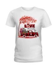Love honey life truck red Ladies T-Shirt tile