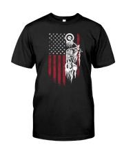 Biker Flag USA Classic T-Shirt front