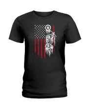 Biker Flag USA Ladies T-Shirt thumbnail