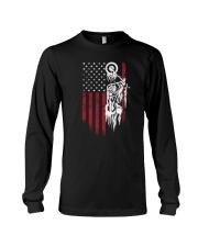 Biker Flag USA Long Sleeve Tee thumbnail