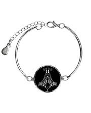 ke Metallic Circle Bracelet front