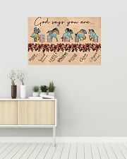 Barrel racing god say you are 36x24 Poster poster-landscape-36x24-lifestyle-01