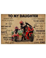 Motocycle To My Daughter PDN ngt  17x11 Poster front
