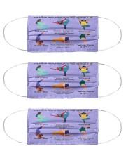RBG yoga mas lqt-ntv  Cloth Face Mask - 3 Pack front