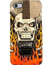 Music Guitar George Flaming Skull PDN-ntv Phone Case i-phone-8-case