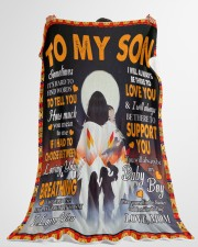 """Native to my son flb pdn-nna Large Fleece Blanket - 60"""" x 80"""" aos-coral-fleece-blanket-60x80-lifestyle-front-10"""