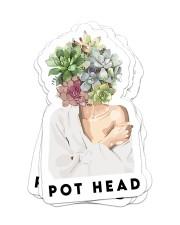 Gardening pot head sticker Sticker - 6 pack (Vertical) front
