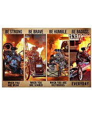 HR Strong Brave Humble PDN-dqh 24x16 Poster front