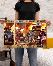 HR Strong Brave Humble PDN-dqh 24x16 Poster poster-landscape-24x16-lifestyle-20