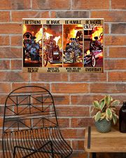HR Strong Brave Humble PDN-dqh 24x16 Poster poster-landscape-24x16-lifestyle-24