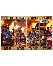 HR Strong Brave Humble PDN-dqh Horizontal Poster tile
