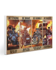 HR Strong Brave Humble PDN-dqh Gallery Wrapped Canvas Prints tile