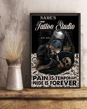 Tattoo skull tattoo studio custom lht-dqh 11x17 Poster lifestyle-poster-3