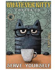 Cat Coffee Serve Yourself PDN  24x36 Poster front
