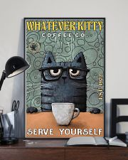 Cat Coffee Serve Yourself PDN  24x36 Poster lifestyle-poster-2
