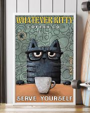 Cat Coffee Serve Yourself PDN  24x36 Poster lifestyle-poster-4