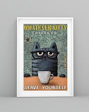 Cat Coffee Serve Yourself PDN  24x36 Poster lifestyle-poster-5