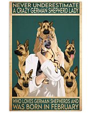 Crazy German Shepherd february 11x17 Poster front