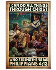Jesus teacher I can do all thing 11x17 Poster front