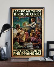 Jesus teacher I can do all thing 11x17 Poster lifestyle-poster-2