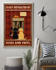 Music Dog Vinyl Easily Distracted PDN-dqh 11x17 Poster lifestyle-poster-1