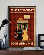 Music Dog Vinyl Easily Distracted PDN-dqh 11x17 Poster lifestyle-poster-2