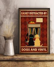 Music Dog Vinyl Easily Distracted PDN-dqh 11x17 Poster lifestyle-poster-3