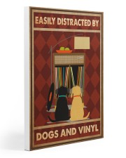 Music Dog Vinyl Easily Distracted PDN-dqh Gallery Wrapped Canvas Prints tile